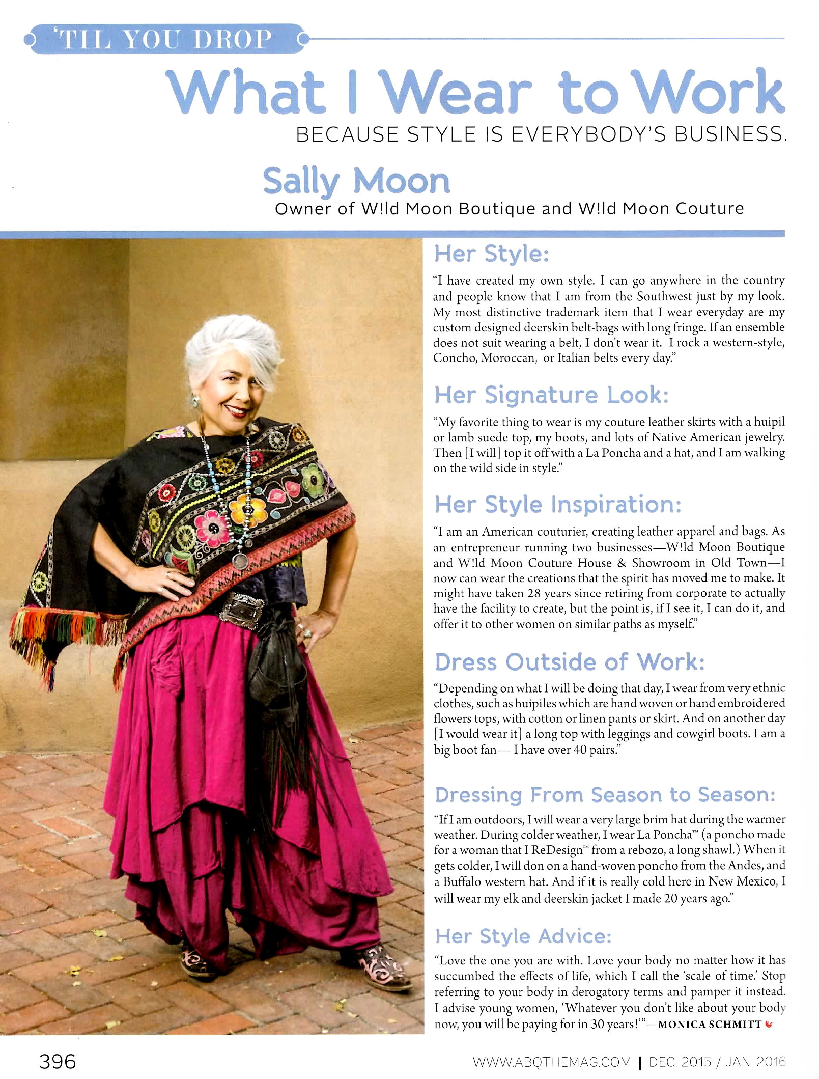 Sally Moon Featured in Albuquerque the Magazine